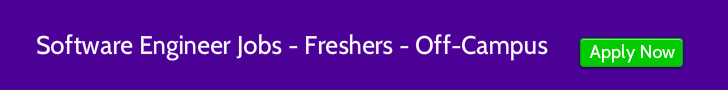 jobs software engineers freshers off-campus
