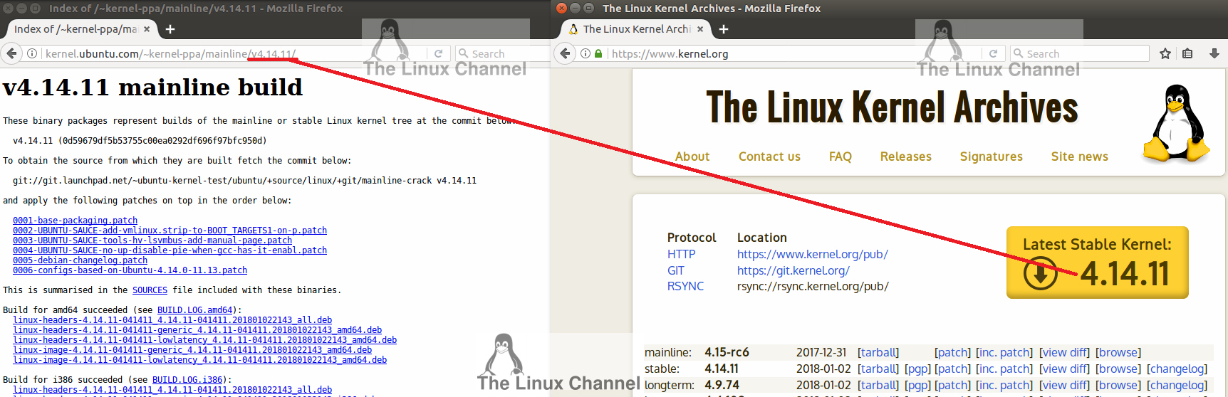 1 Linux Kernel v4.14.11 mainline build