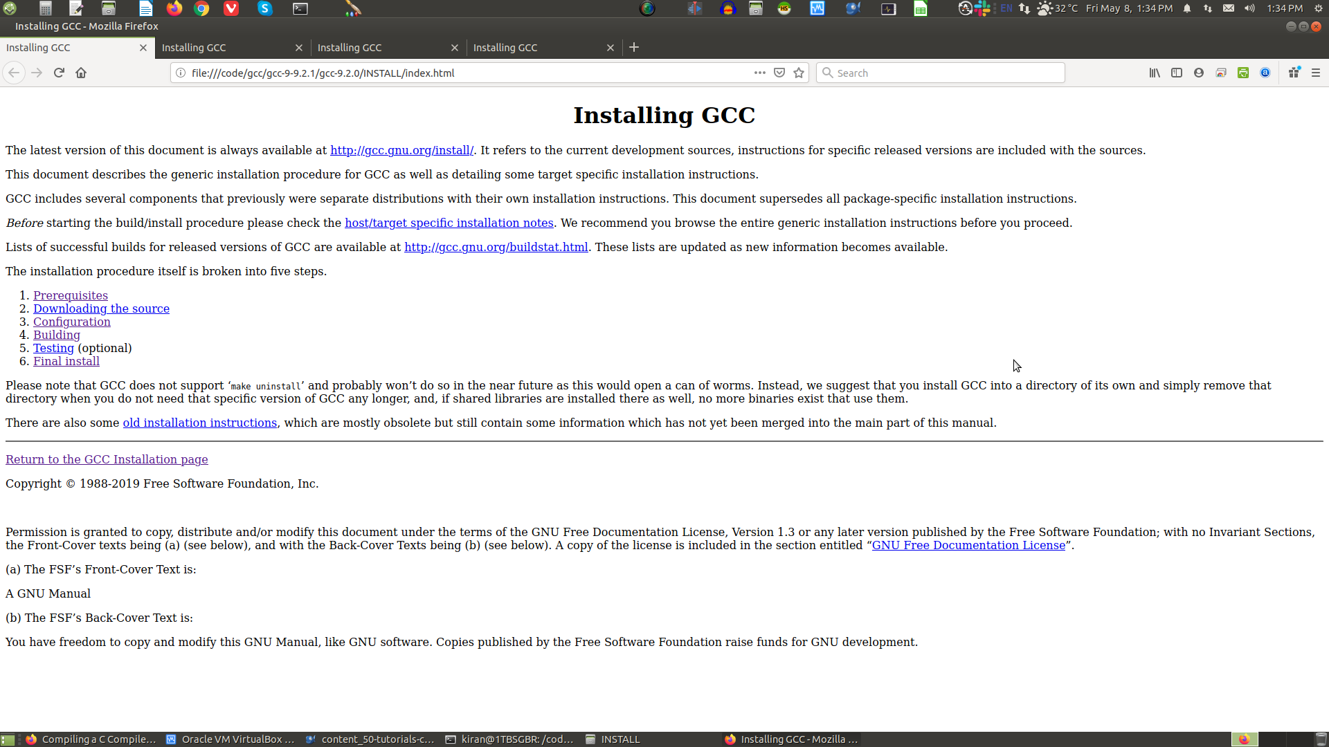 gcc HTML Installation Guide page 1