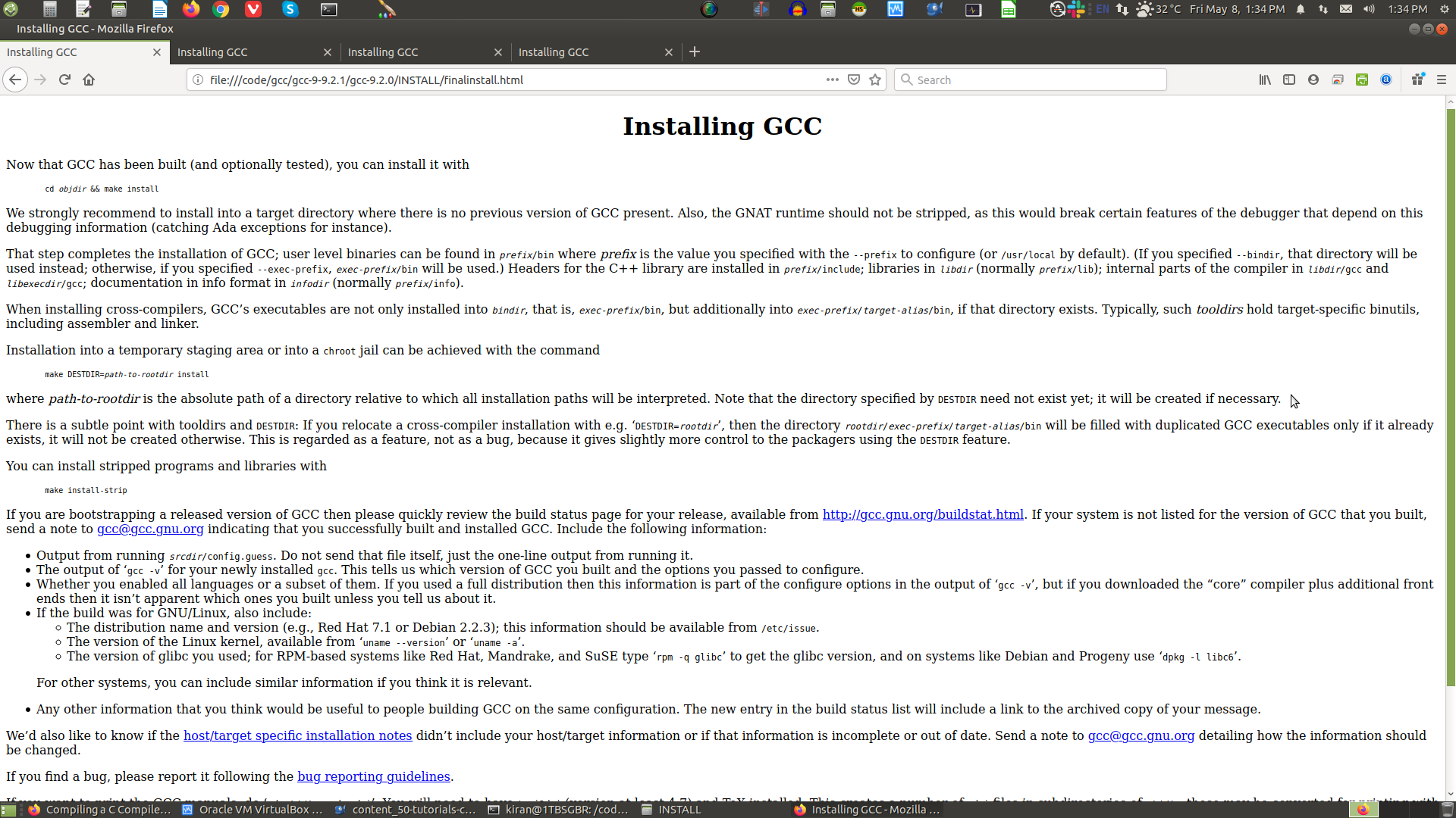gcc HTML Installation Guide page 5